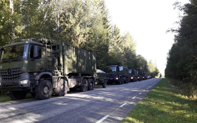 Переброска эстонского подразделения в Польшу.