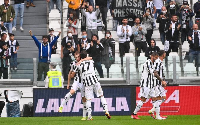 Juventus tähistamas Sampdoria vastu löödud väravat