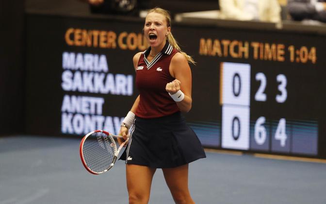 Анетт Контавейт выиграла свой третий титул WTA в карьере.