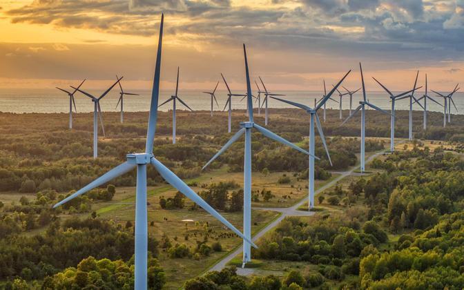 Wind farm in Paldiski.