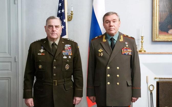 Mark Milley ja Valeri Gerassimov