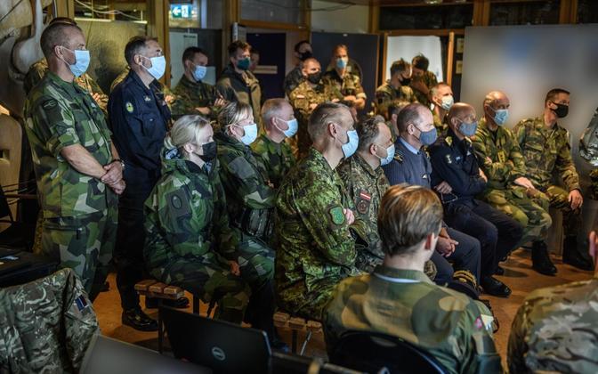 Эстонские военные поучаствовали в международных учениях.