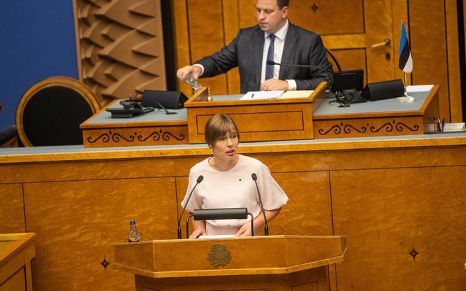 President Kersti Kaljulaid riigikogus