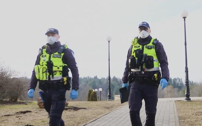 Полицейские в Эстонии.