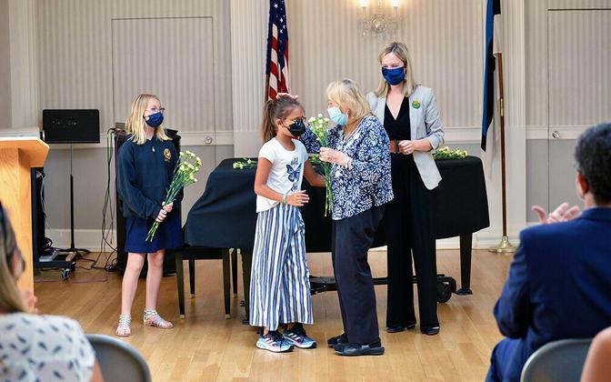 Opening ceremony at the New York Estonian School, September 2021.
