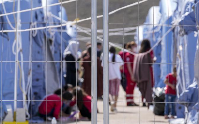 Лагерь афганских беженцев в Италии.