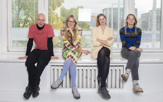 KKEKi tiim: Sten Ojavee, Maria Arusoo, Kaarin Kivirähk ja Marika Agu.