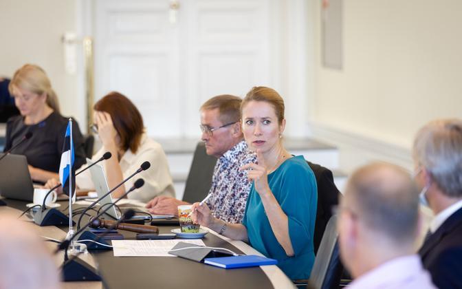 Valitsuse istung, esiplaanil peaminister Kaja Kallas