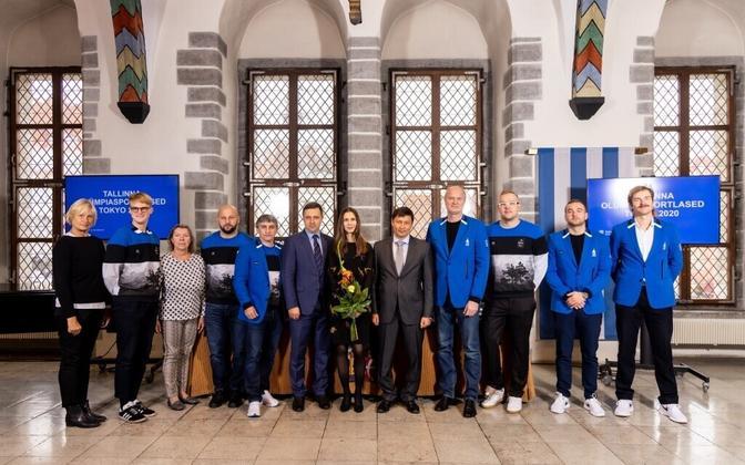 Olümpiasportlased Tallinna linna vastuvõtul