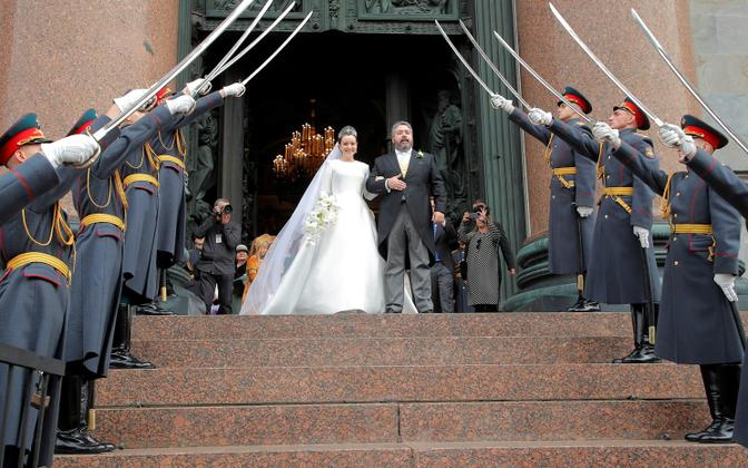 Венчание Георгия Романова и Ребекки Беттарини.