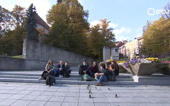 Tourists finding their way to Tallinn again.