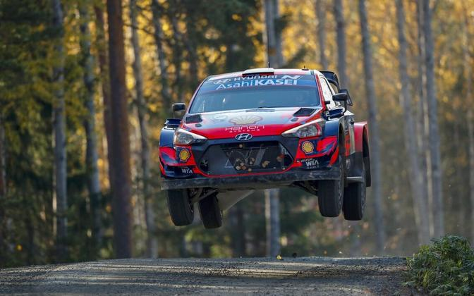 Ott Tänak - Martin Järveoja at WRC Rally Finland.