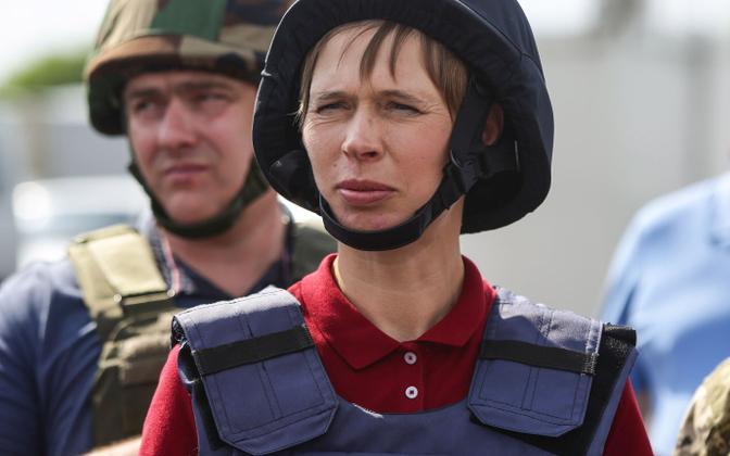Eesti president Kersti Kaljulaid on Ukraina toetuseks korduvalt külastanud sealset konfliktipiirkonda.