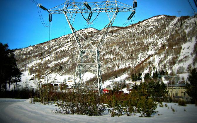 Линия электропередачи в Норвегии.