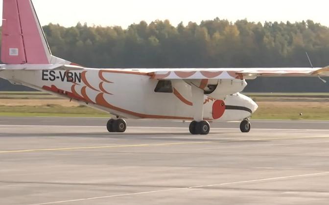 Самолет. обслуживаюший линию Пярну-Рухну.