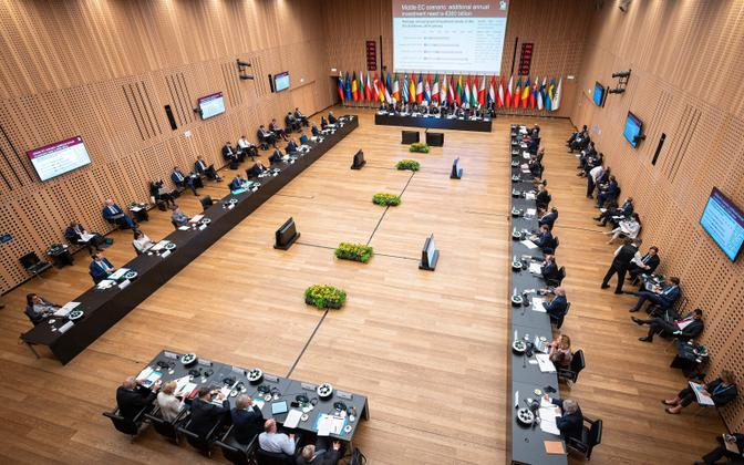 Vaade nõupidamisteruumile, kus tippkohtumine toimub.