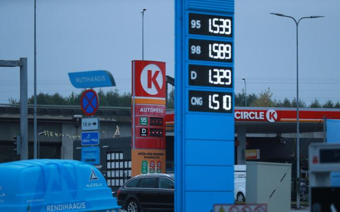 Mootorikütuste hinnad 5. oktoobril 2021