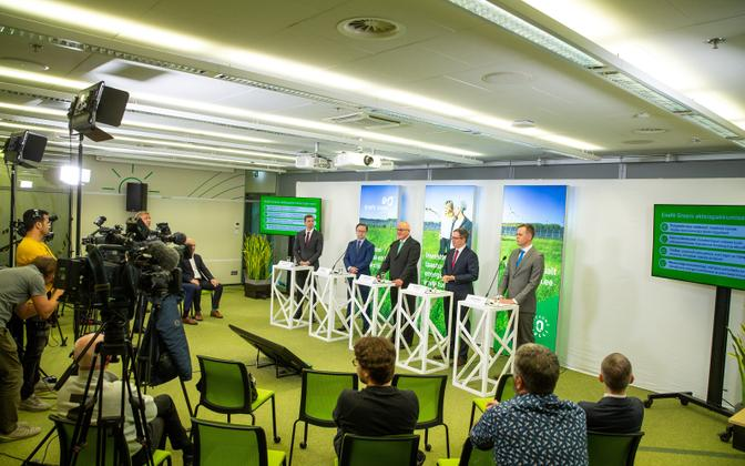 Enefit Green press conference.