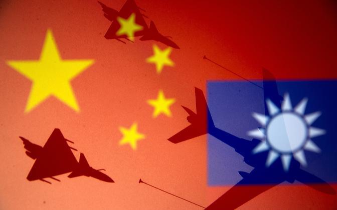 Hiina ja Taiwani lipud