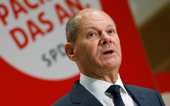 Кандидат в федеральные канцлеры от социал-демократов Олаф Шольц.