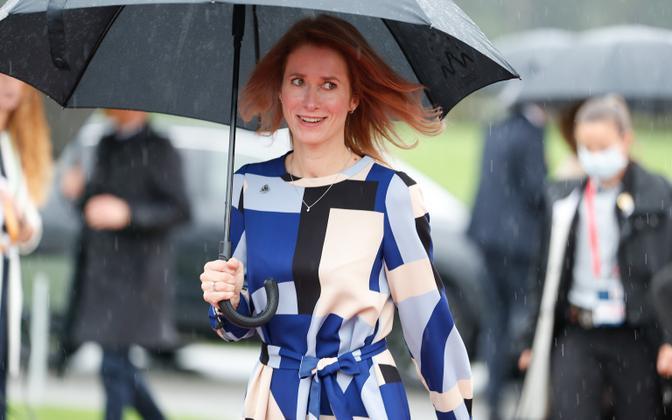 Kaja Kallas at the EU-Western Balkan Summit in Slovenia on October 6, 2021.