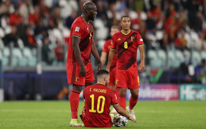 Eden Hazard (number 10) kohtumises Prantsusmaa vastu