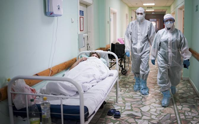 Пациент с коронавирусом в больнице в Чебоксарах.
