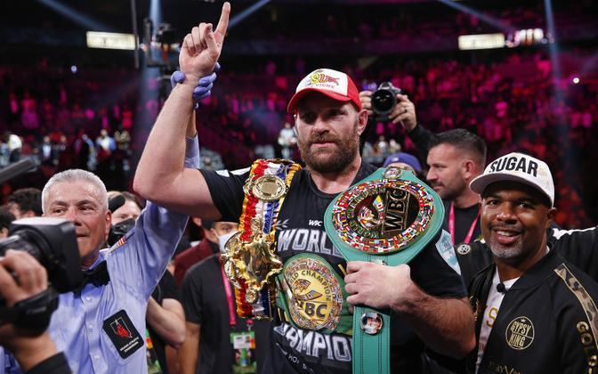 Tyson Fury pärast matši Deontay Wilderi vastu