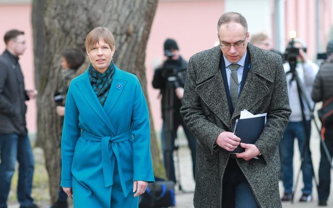 Kersti Kaljulaid and Peeter Kuimet.