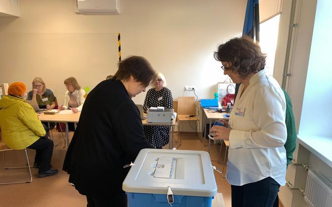 Голосование в Нарве 11 октября.