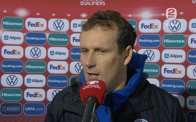 Константин Васильев не смог помочь сборной Эстонии.