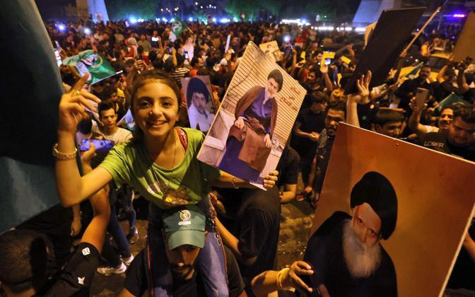 Демонстрация сторонников аль-Садра.