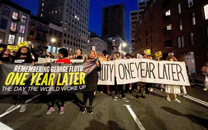 Meeleavaldus New Yorgis, kus nõutakse politsei rahastamise vähendamist