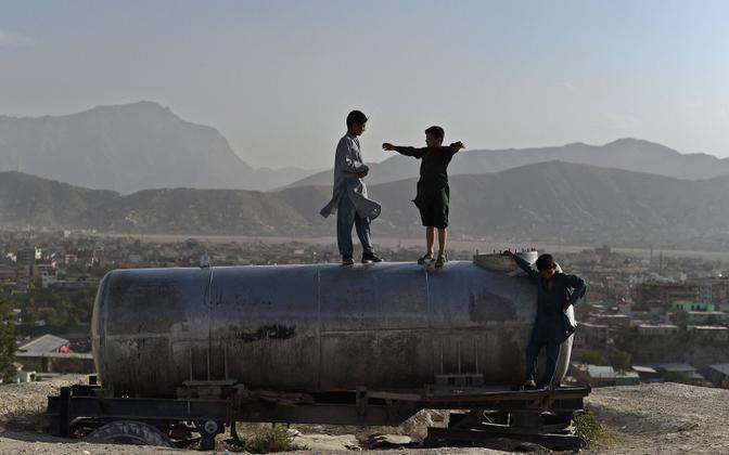 Lapsed Afganistani pealinnas Kabulis