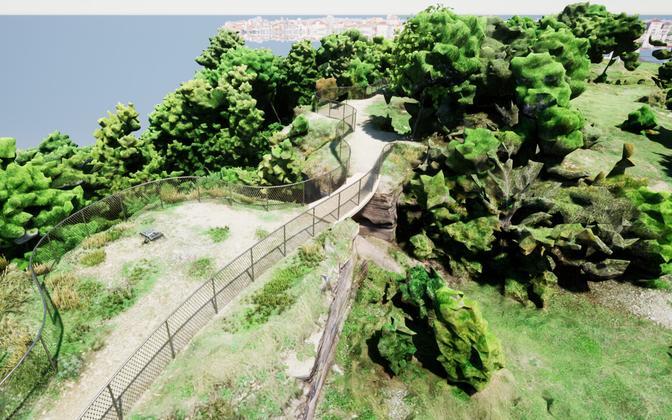 Вид на мост, созданный в программе Rhimo3d.