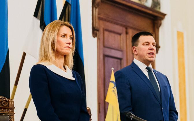 Reformierakonna esimees Kaja Kallas ja Keskerakonna esimees Jüri Ratas.