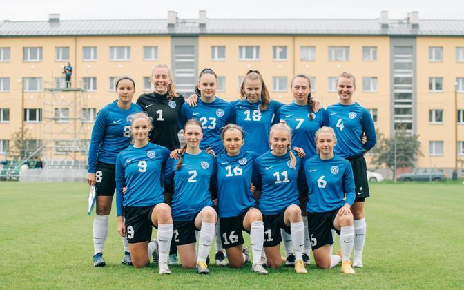 Eesti U-19 neidude jalgpallikoondis.